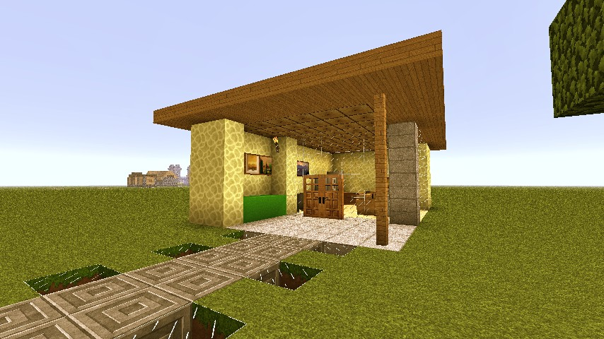 Modern House 6 One Room Home Minecraft Project