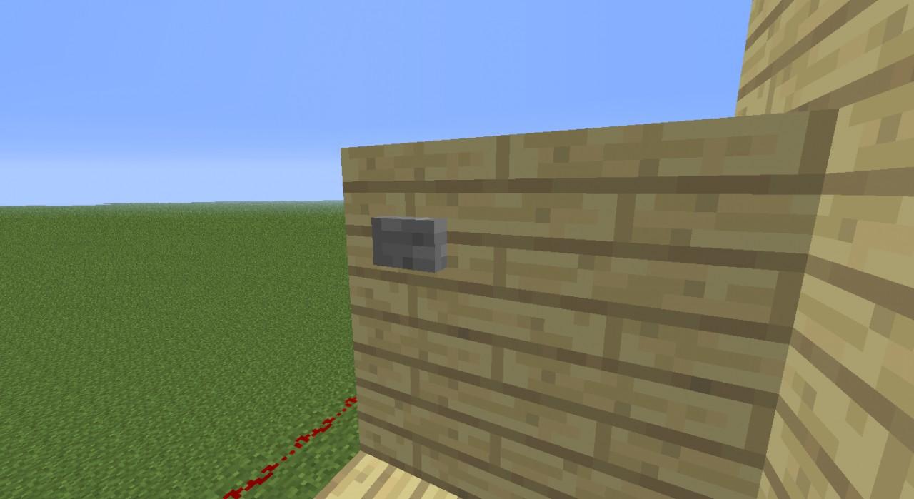 how to build a piston door in minecraft