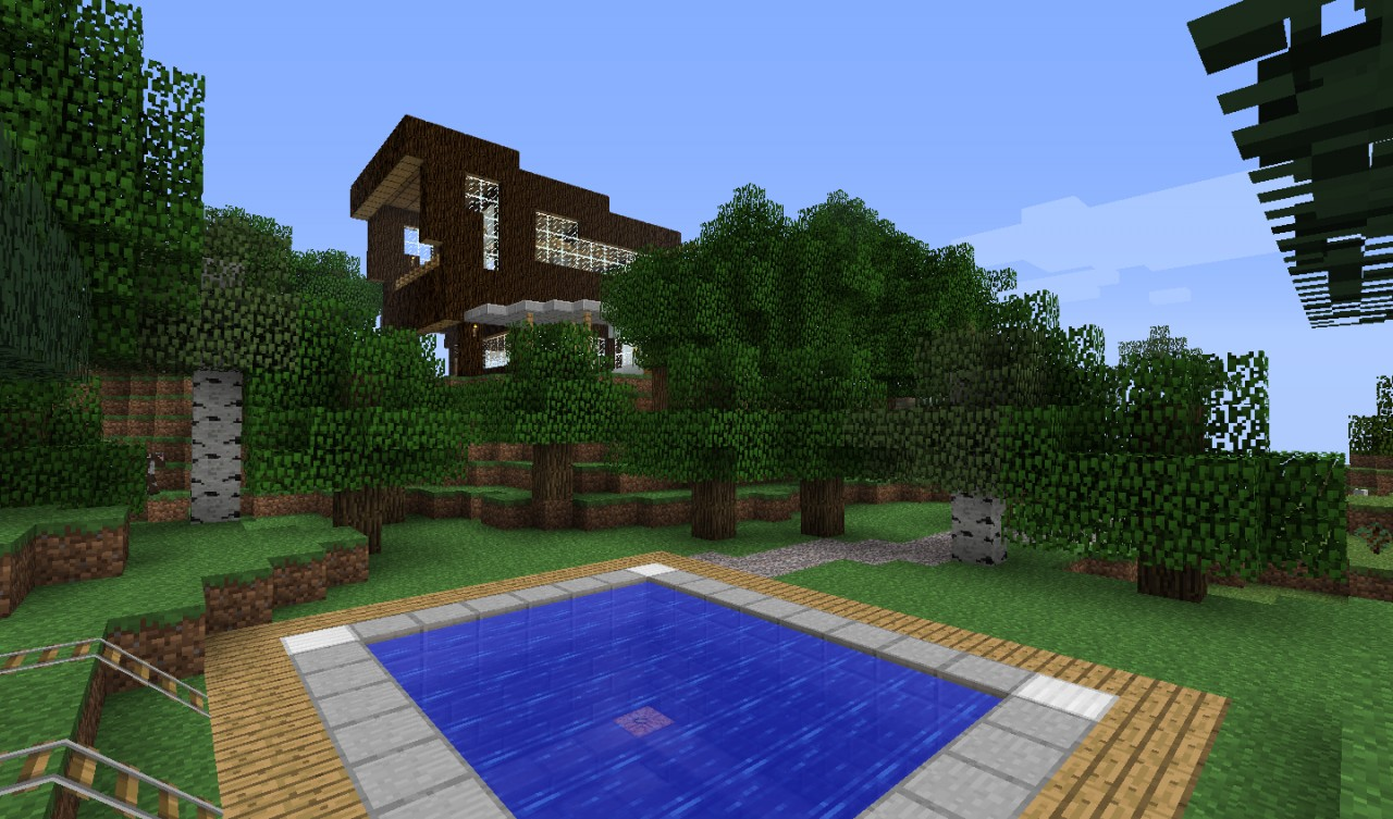 Modern house in the woods minecraft project for Modern house in the woods
