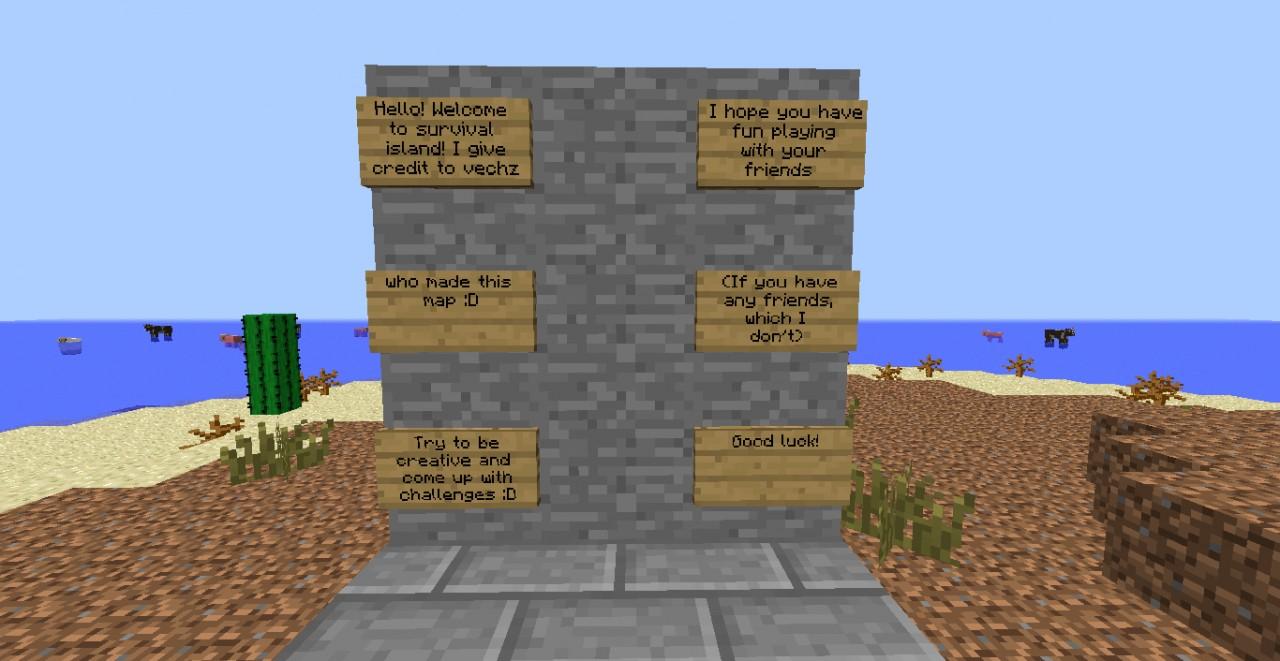 Huge Survival Island Minecraft Project
