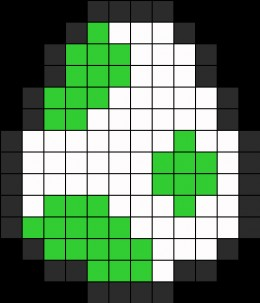 Yoshi Egg Pixel Art Golfclub
