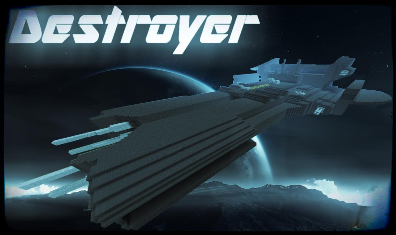 Destroyer Spaceship Minecraft Project