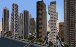 Downtown New Crafton (Finished) Minecraft Map & Project