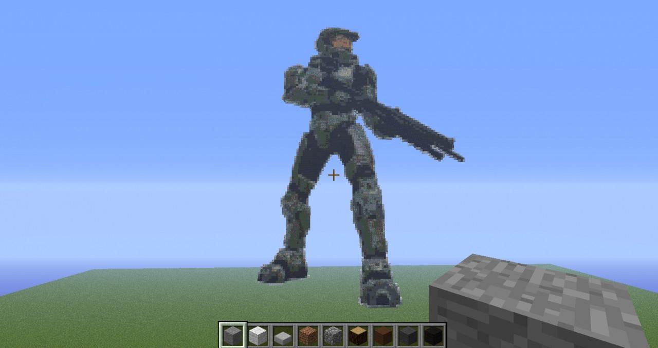 Spartan Pixel Art Minecraft Project