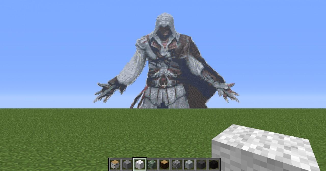 Ezio In Pixel Art Minecraft Project