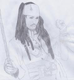 Captain Jack Sparrow - Drawing - Second attempt Minecraft Blog Post