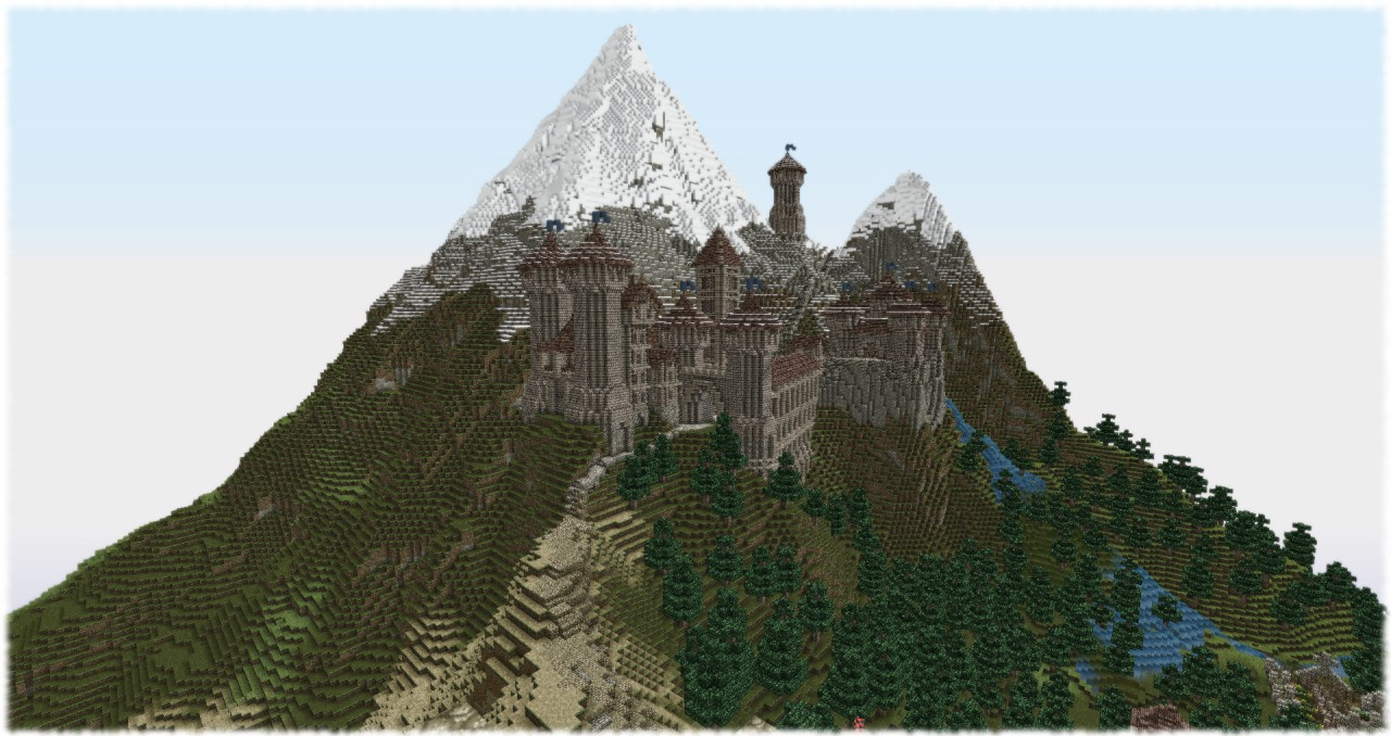 Tephra Castle And The Town Of Noxshire Minecraft Project