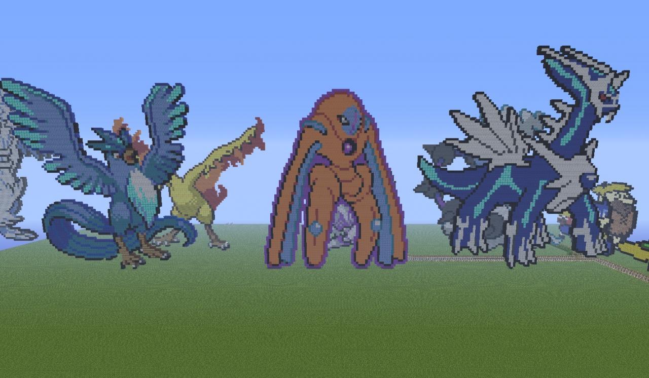 Legendaries Pokemon In Pixel Art 1 Minecraft Project