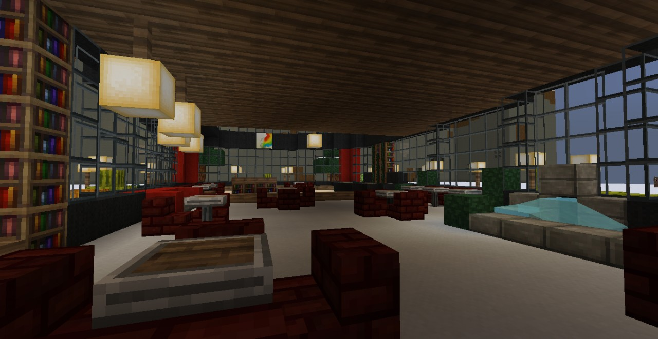 how to build a restaurant in minecraft