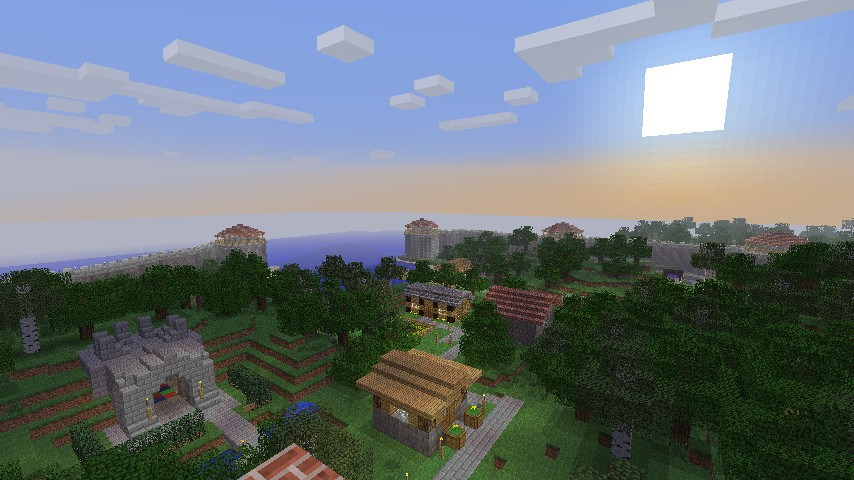 An overhead view of the spawn area