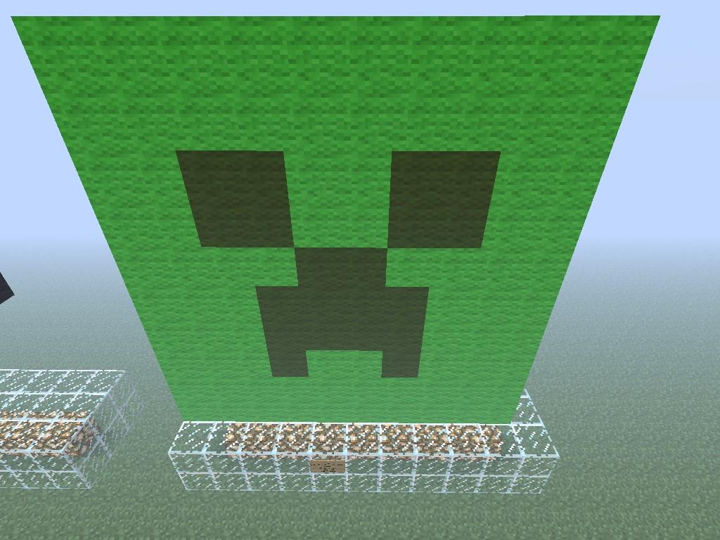 Creepers Face Visage De Creeper Minecraft Project