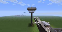 Minecraft Airport in 3D Art Minecraft Project