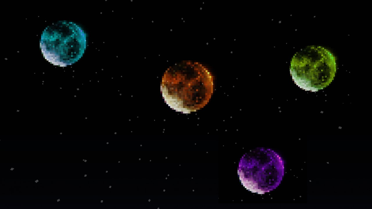 Multi-colored moons!