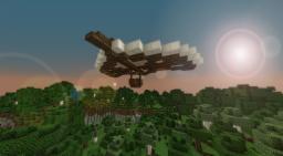 Small steampunk glider Minecraft Map & Project