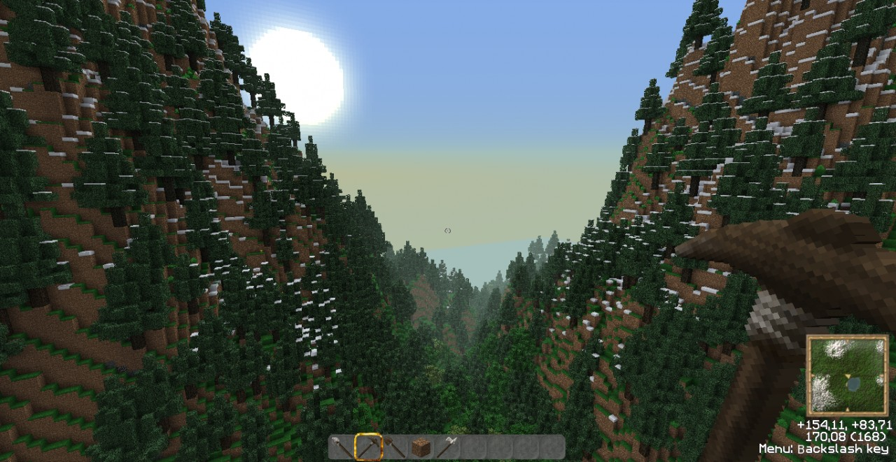 High Mountains Map Minecraft