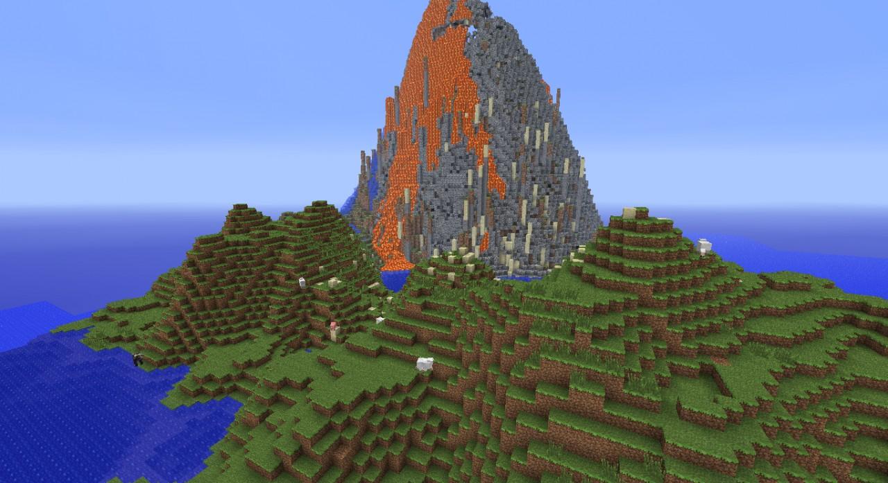 survivalvolcano  survival island  with volcano  minecraft