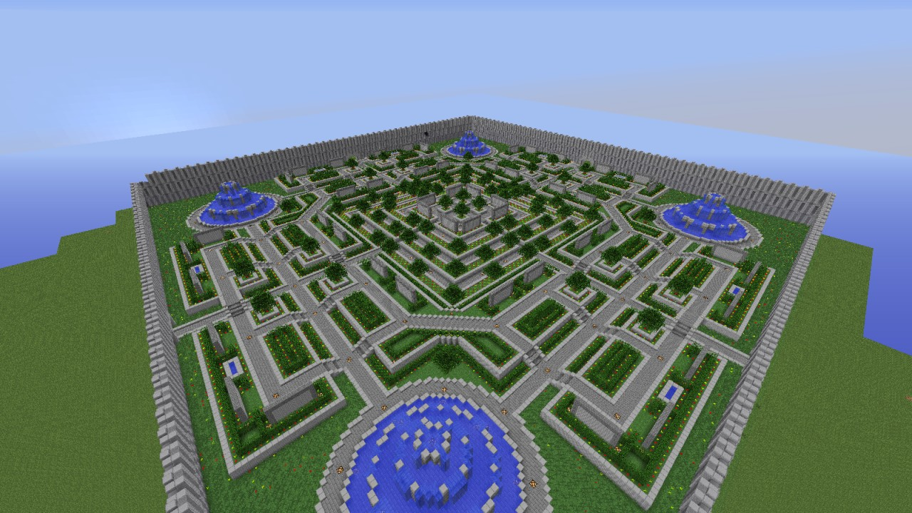 Large garden spawn point for servers minecraft project for Garden designs minecraft