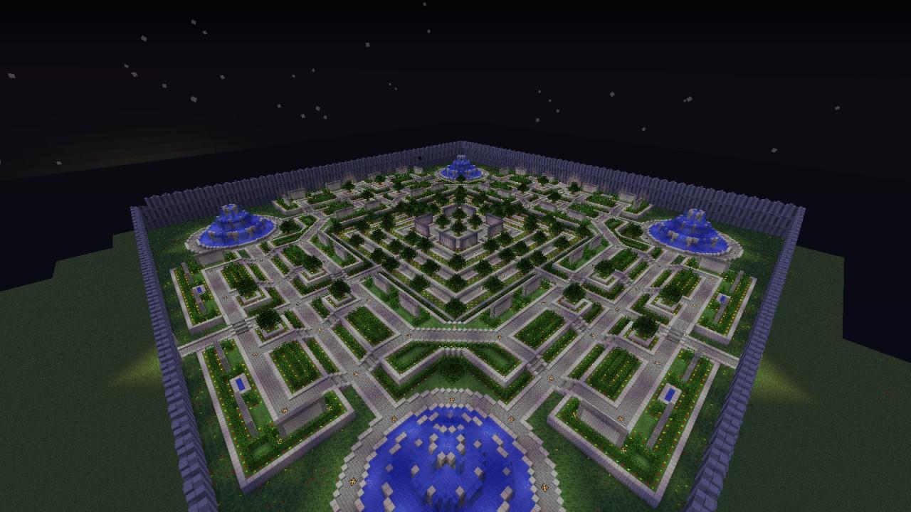 Minecraft Flower Garden