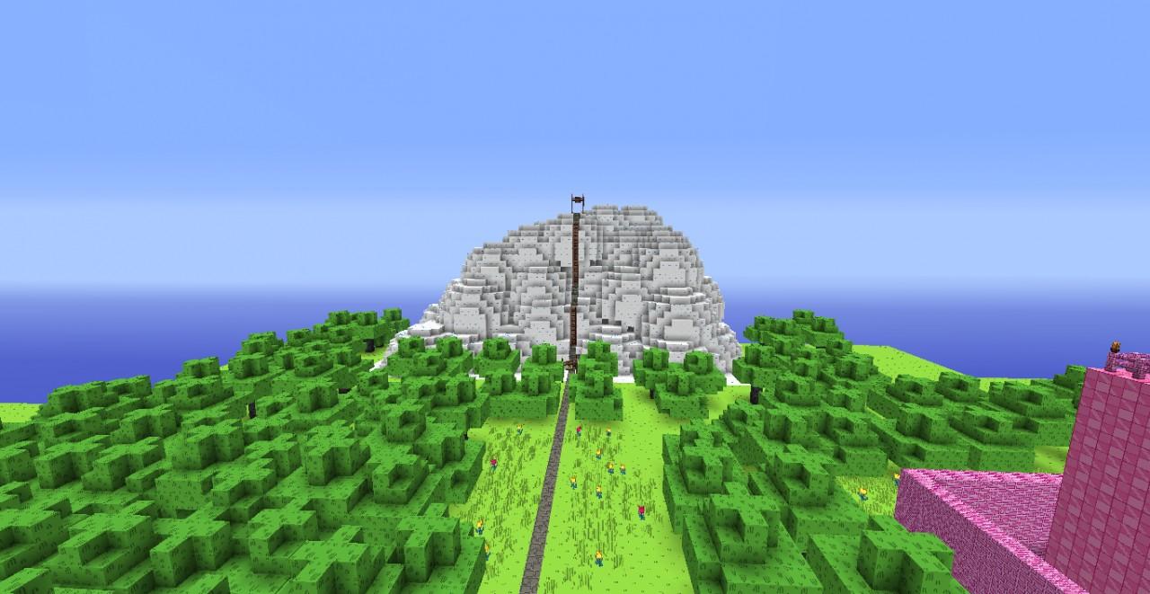 Vanilla IceCream Mountain (has Dungeon Inside)