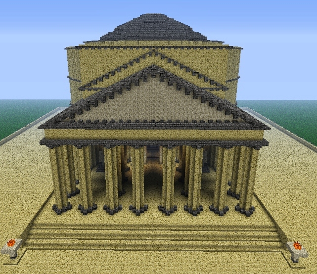 the pantheon  year a d  130  minecraft project
