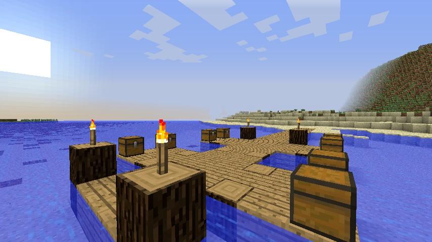 A small dock on the coastline