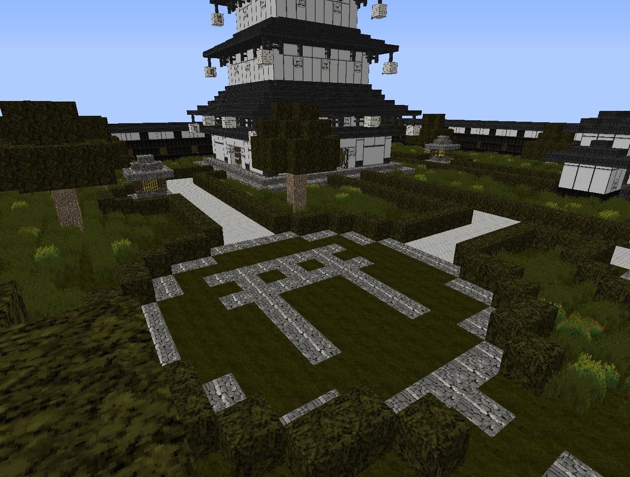 Japanese pagoda complex minecraft project - Minecraft japanese gate ...