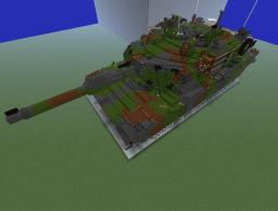 13:1 scale M1A2 Abrams tank Minecraft Map & Project