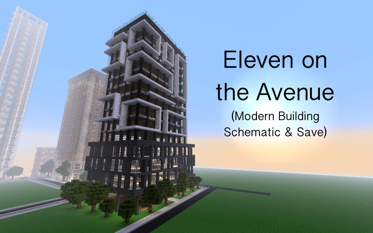 eleven on the avenue modern building minecraft project