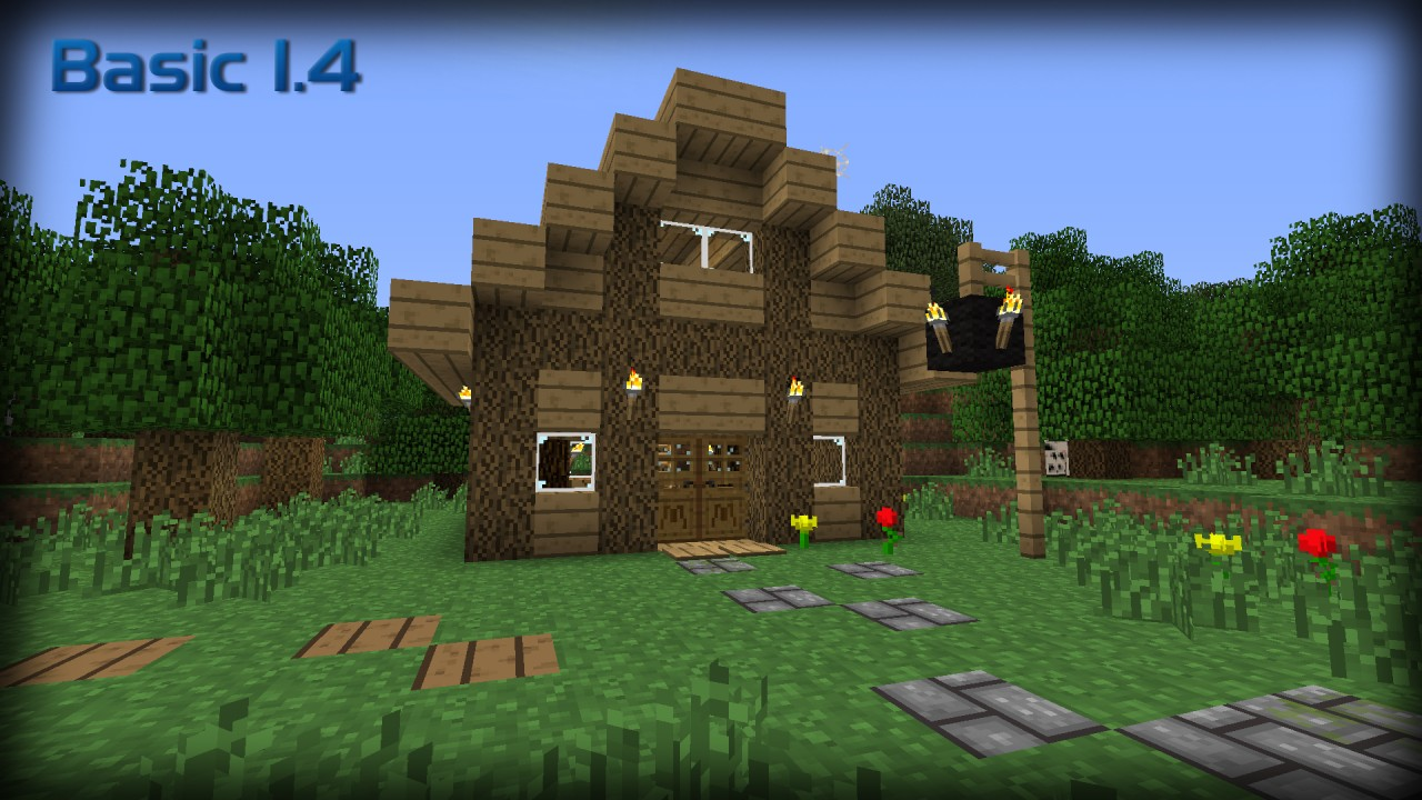 Basic 1 4 minecraft texture pack for Basics of building a house