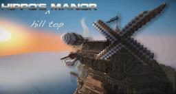 Hippo's Hill Top Manor (Docks, Lighthouse, Manor, Farm, Mine and 2 Air Structures) Minecraft Map & Project