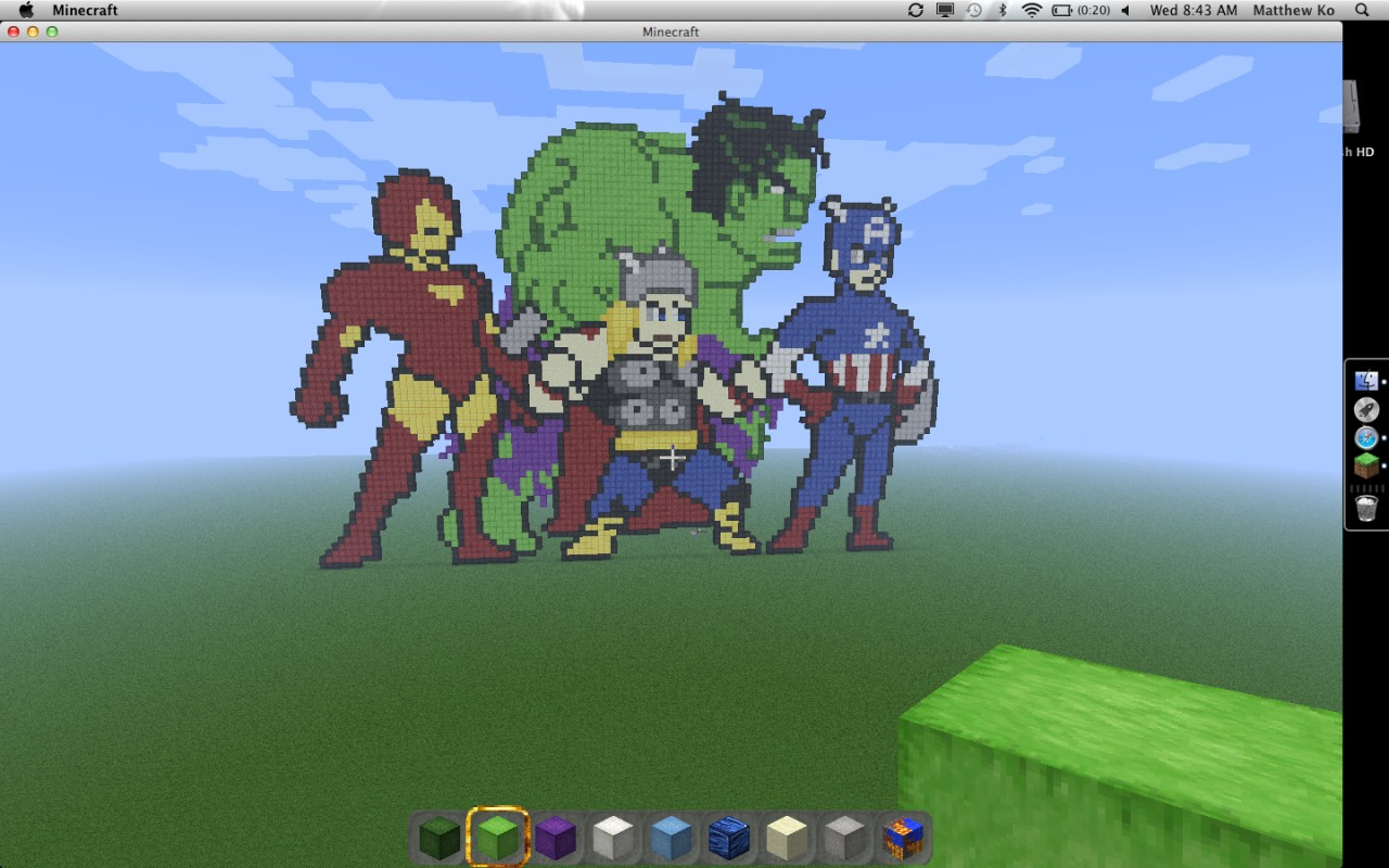 minecraft how to build iron man