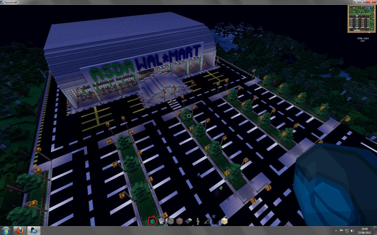 Asda Walmart Supermarket Minecraft Project
