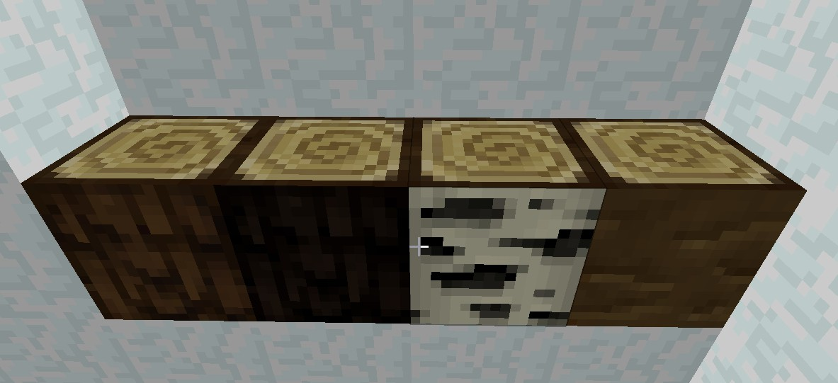 The new wood textures.