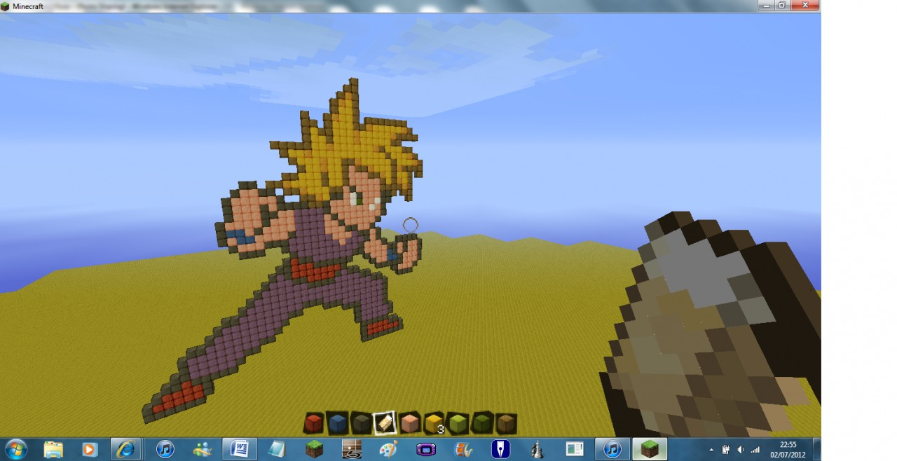 Gohan From Dragon Ball Z Minecraft Project