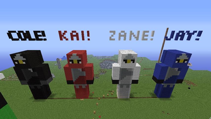 Lego Ninjago Characters And Random Stuff Minecraft Project