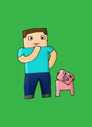 Steve drawing Minecraft Blog