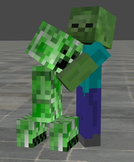 Steve 39 s journey trough minecraft part 2 minecraft blog - Minecraft zombie vs creeper ...