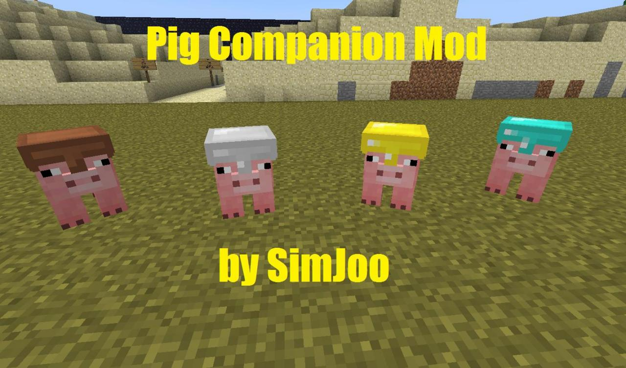 minecraft how to ride a flying pig