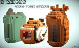 3 super canons - giraffe , tiger , rhino Minecraft Project