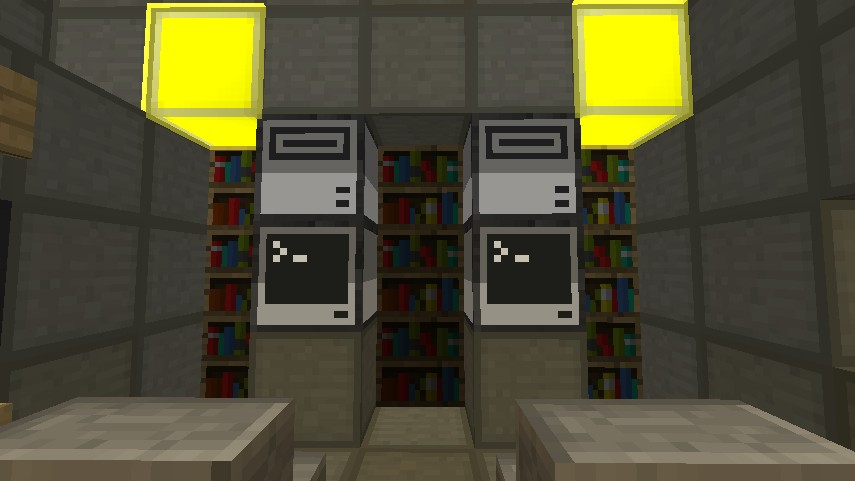 Computer Desks and Library
