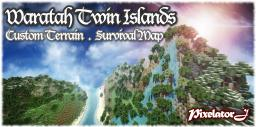 Waratah Twin Islands [Custom Survival Map] with Ores, Caverns, Waterfall, Dungeons! Minecraft