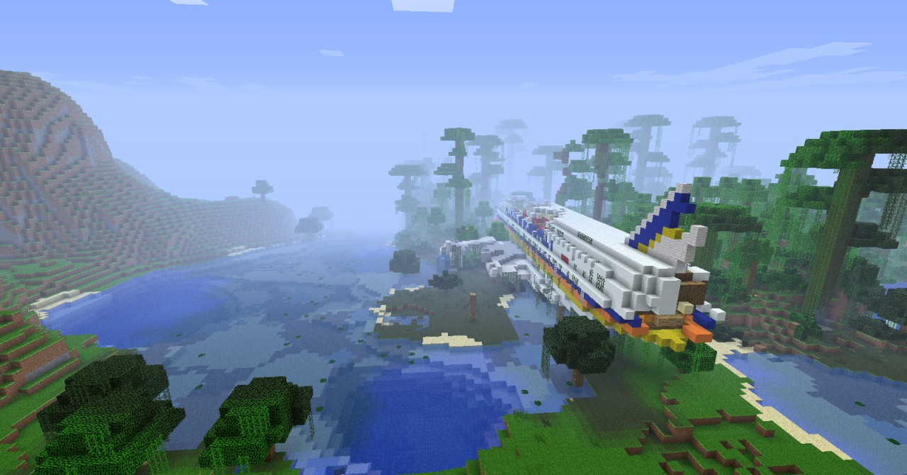 how to build a working plane in minecraft