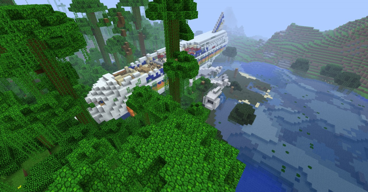 how to build a airplane in minecraft ps3