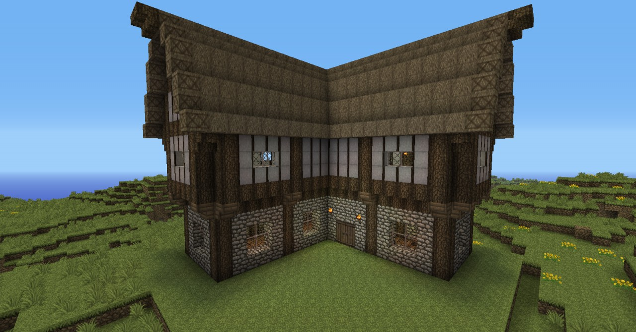 Medieval cottage minecraft project for How to build a cottage house