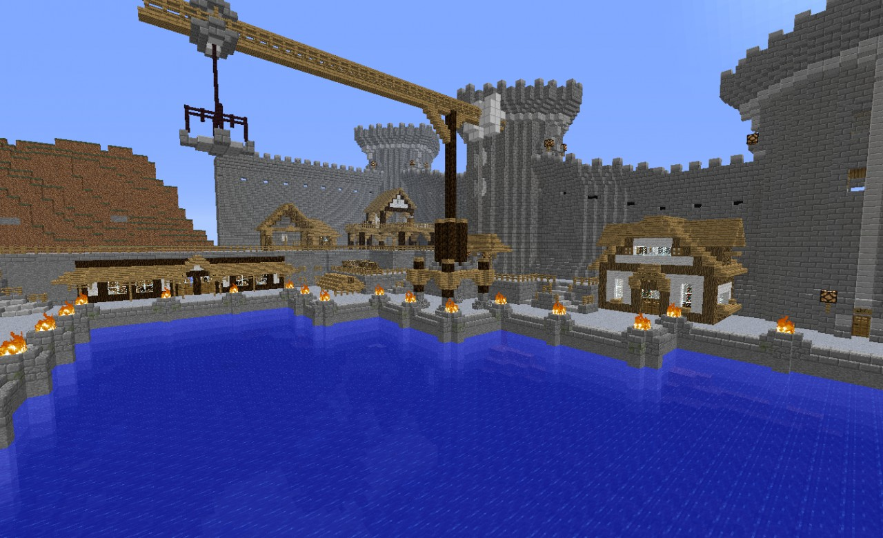 Medieval Harbor Minecraft