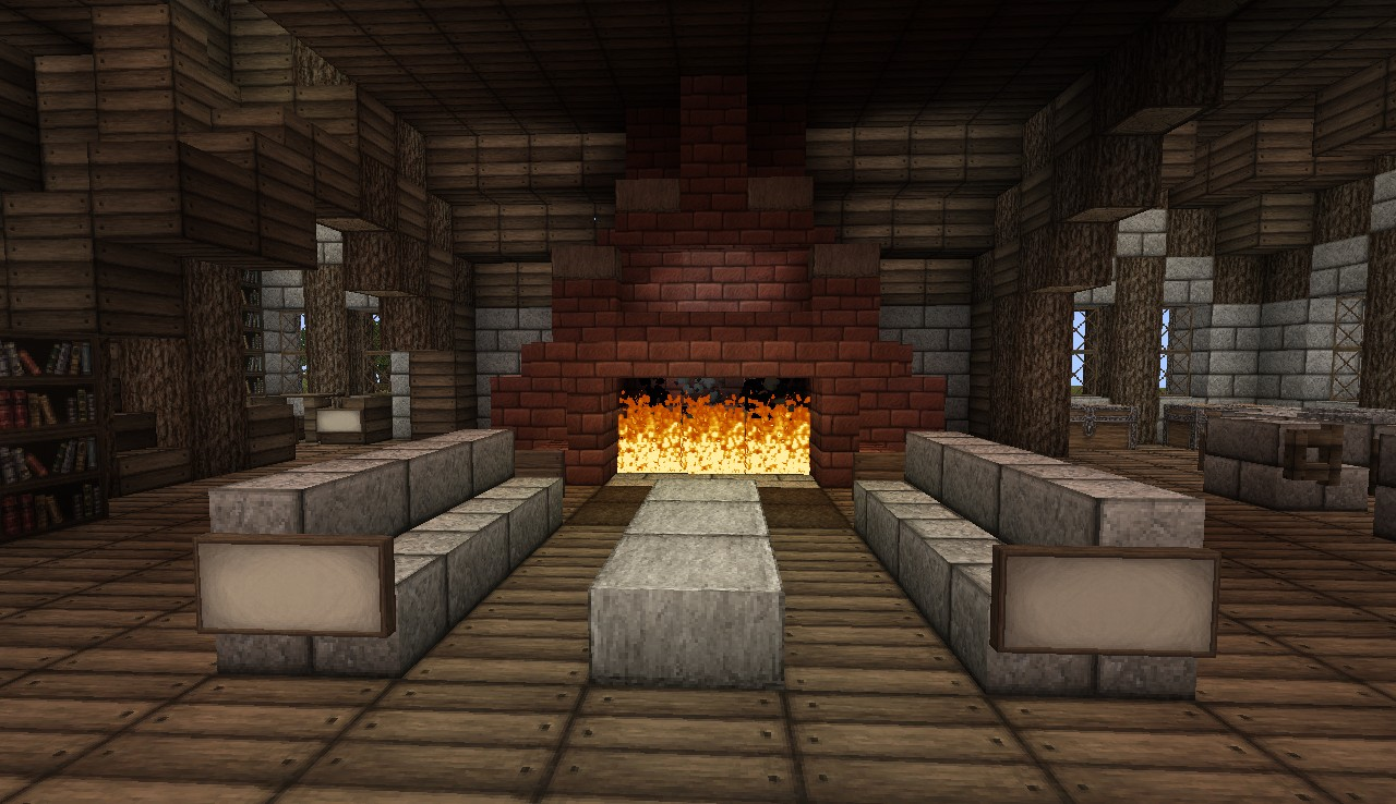 gallery for minecraft medieval fireplace