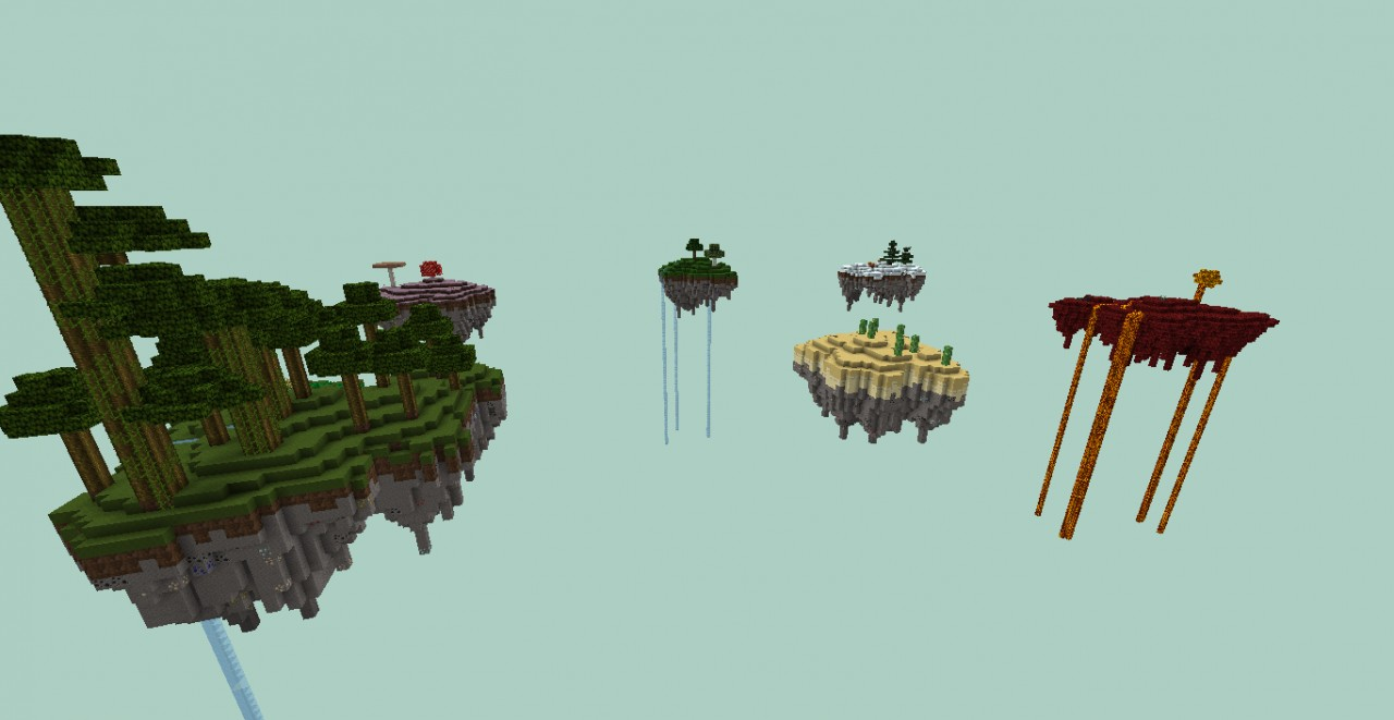 Floating Biomes Survival 1 1 Minecraft Project