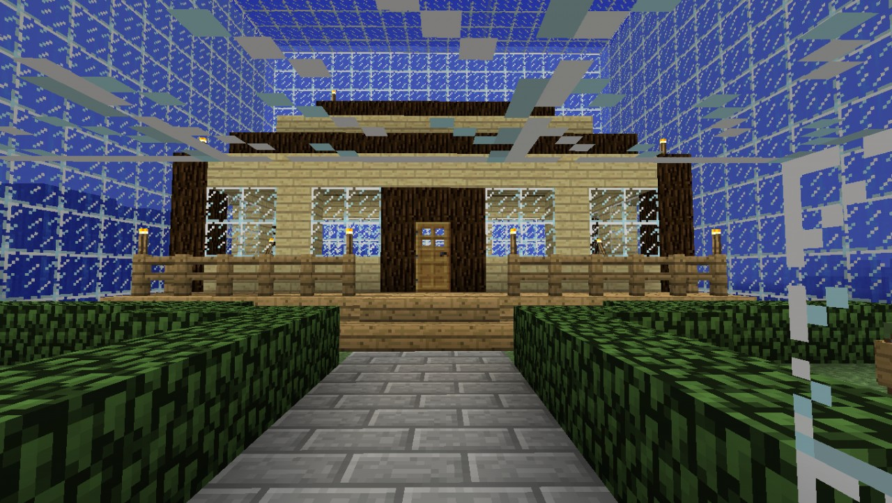 Simple house in the sea minecraft project for Minimalist house minecraft