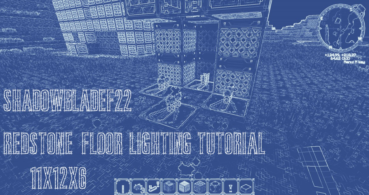 Redstone lamp floor lighting tutorial minecraft project redstone lamp floor lighting tutorial aloadofball Images