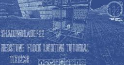Redstone lamp floor lighting tutorial